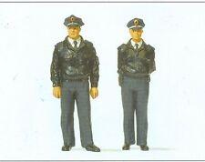 Preiser 44909 Polizisten stehend. blaue Uniform  für LGB, 1:22,5, Neu 2014