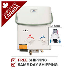 Tankless Water Heater Portable Hot Propane Gas 1.4 GPM Eccotemp L5 w/ 12V Pump