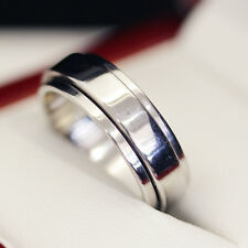 "Gents modern Piaget 18ct white gold  ""Posessions""  spinner wedding band."
