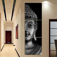 CHOP122 3pcs 100% hand-painted modern buddha oil painting wall art canvas