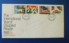 1981 YEAR OF THE DISABLED FIRST DAY COVER SIGNED BY TANNI GREY THOMPSON