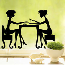 New nail artist Lady Manicure Quote Wall sticker Wallpaper wall decals Art mural
