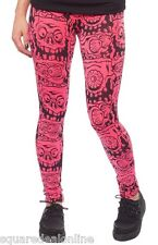 130399 Pink Melting Monsters Leggings Sourpuss Creepy Punk Goth Horror Small