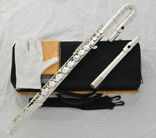 Professional Silver Plated Alto Flute G Key With Straight Curved Headjoin W/Case
