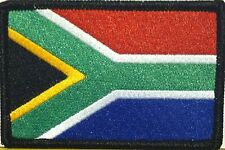 SOUTH AFRICA Iron On Morale Patch Military ARMY Emblem Black Border