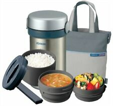kb09 New Zojirushi Lunch Box M Size Thermos Stainless Bento Bottle SL-NC09-ST