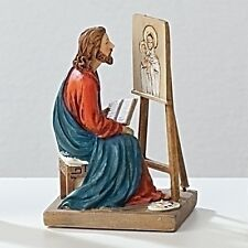 Statue St. Luke Evang 3.5 inch Painted Resin Saint in a Box Card Patron Catholic