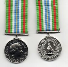 THE EBOLA MEDAL - A SUPERB QUALITY DIE-STRUCK FULL-SIZE REPLICA WITH RIBBON