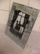 """Silver Glitter  Effect  Picture Frames 5"""" x 7"""""""