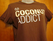 BODY SHOP juniors large T shirt COCONUT ADDICT tee cosmetics body-butter OG