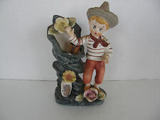 VINTAGE  UCAGCO CERAMIC FLOWER POT VASE-COLLECTIBLE