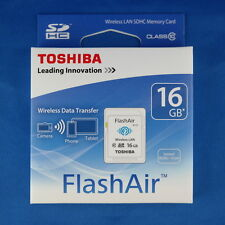 Toshiba 16 GB CLASS 10 SD mit WiFi Flash Memory SD Card Wi-Fi Wireless Data OVP