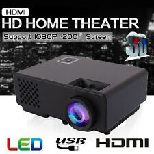 HD 1080P Mini LED Projector 3D 3000 Lumens Multimedia Home Theater USB HDMI VGA