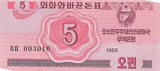 Korea North 5 Chon 1988 Unc pn 32