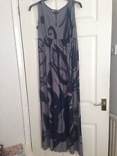marks and spencer Autograph Navy Grey Maxi Dress Size 8 Summer BNWT