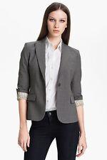 THEORY Gabe B Tailor Jacket Blazer Stretch Wool Gray Size 10