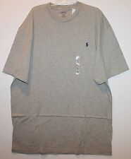 Polo Ralph Lauren Big and Tall Mens Heather Gray Crewneck T-Shirt NWT 2XLT