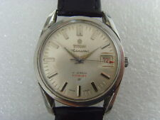 Vintage Swiss Titoni 17J Date Mechanical Manual Watch