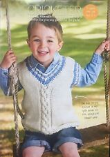 Cricketer - Childs Tanktop Knitting Pattern. To Fit Ages 2 - 9 Years (SK 146)