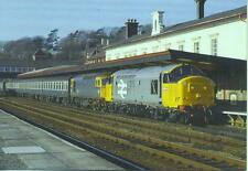 Railfreight Diesel 37698 & 33037 Bangor Cardiff train 1986 postcard