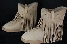 KOOLABURRA  STUDDED  FRINGE WOMEN  SHEEPSKIN WARM BOOTS EU 38 UK 5 US 7