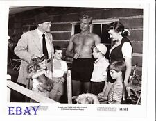 Richard Denning barechested, Tommy Rettig VINTAGE Photo Week End With Father
