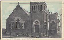 Ohio Postcard 1915 WOODSFIELD Methodist Episcopal Church Monroe County