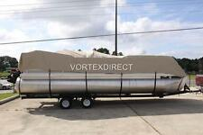 NEW VORTEX COMBO PACK BEIGE 16 FT ULTRA PONTOON/DECK BOAT COVER+SUPPORT SYSTEM