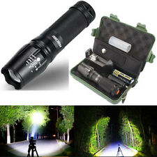 5000 Lumens Zoomable 5 Modes XML T6 LED Flashlight Torch Lamp+Original Case NEW