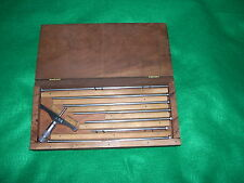 "Brown And Sharpe 0-9"" Depth Gage In Wood Box"