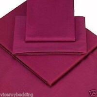 Pair Aubergine Egyptian Cotton 400 Thread Count Continental Square Pillow Cases