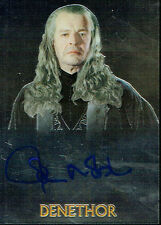 LORD OF THE RINGS TRILOGY CHROMIUM AUTOGRAPH CARD OF JOHN NOBLE AS DENETHOR