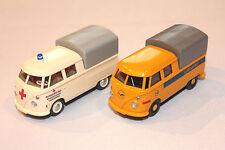 Wiking Konvolut 2er-Set Volkswagen VW T1 DoKa DRK und Lufthansa OVP 1/87 H0 rar