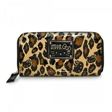 NWT Loungefly Hello Kitty Leopard Embosed Faux Patent Leather Zip-Around Wallet