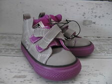INFANT TODDLER  SIZE 6 CONVERSE ONE STAR GRAY AND VIOLET NWBOX HIGH TOP