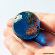 Giant 35mm Planet Earth Globe Marble - Detailed Glass World Space Orrery Orb