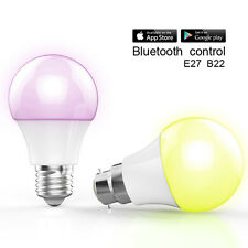 Wireless Bluetooth Smart LED Bulb Light Lamps ISO Android Phone APP Control