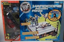 WWE Hardcore Action Ring Referee Earl Hebner Jim Ross Mick Foley Announcer Table