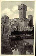 Sirmione Italien Italia Lombardei AK ~1940 Castello Scaligero Burg Festung Turm