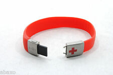 EPIC ID USB MEDICAL EMERGENCY ID BRACELET, RED