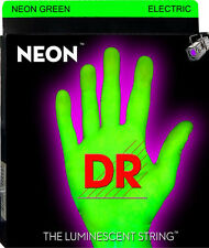 DR NGE-10 Coated Green Neon Electric Guitar Strings gauge medium 10-46