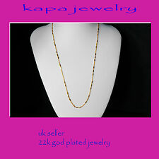 Mens Jewellery 22k Gold Plated Necklace for Men or Women Chain Indian gold a15a