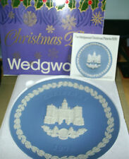Wedgwood Jasperware Blue Horse Guards Christmas Plate 1978 Boxed