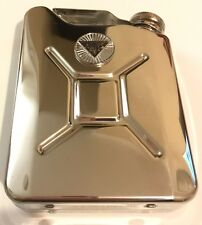 ALVIS Car Petrol Can / Jerry Can Stainless Steel 5oz Drinking Hip Flask