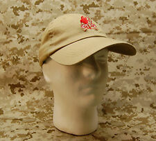 NSWDG Red Squadron Tan Baseball Cap DEVGRU Navy SEAL Red Team Ball Cap YOUTH/SML