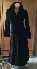 New Newport News Velvet Steampunk Goth Long Coat Black Size 6