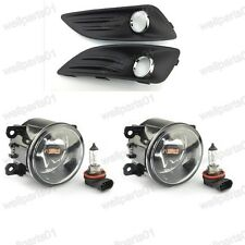 Front Fog Light Lamps & Covers Kits For Ford Fiesta 2013-2015