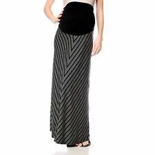 Maternity Oh Baby by Motherhood Secret Fit Belly Striped Maxi Skirt Plus Size 2X