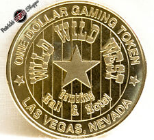 $1 BRASS SLOT TOKEN COIN WILD WILD WEST CASINO 1998 OC MINT LAS VEGAS NEVADA NEW