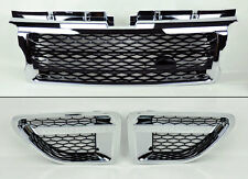 Range Rover Sport 06-09 Chrome Black Front Bumper Hood Grill & Side Fender Vents